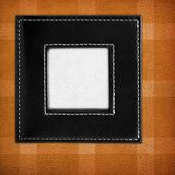 Leather frame background stock photography