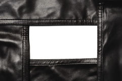 Leather frame background Stock Photos