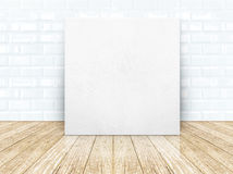 Leather frame at tiles ceramic wall and wooden floor Stock Image
