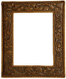 A leather frame to put pictures. Leather picture frame to put your own pictures in Royalty Free Stock Images