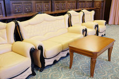 Leather furniture Stock Images