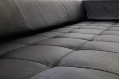 Leather on furniture - sofa Stock Photo