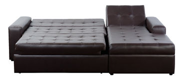 Leather futon. Isolated Royalty Free Stock Photography