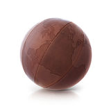 Leather globe 3D illustration North and South America map. On white background royalty free stock photography
