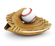 Leather glove with baseball Royalty Free Stock Photos
