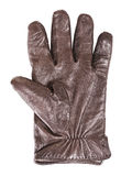 Leather Glove. Brown men's leather glove, isolated on white Stock Photos