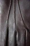 Leather glove closeup Royalty Free Stock Image