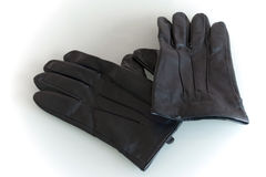 Leather gloves. Quality, leather men gloves, colored in black Royalty Free Stock Image
