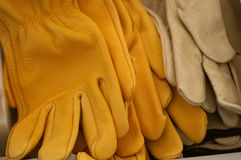 Leather gloves. Assorted gloves royalty free stock photo