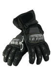 Leather gloves. Leather motorcycle gloves with carbon fiber protection Stock Image