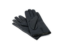 Leather gloves. Isolated over white, defence of hands Stock Image