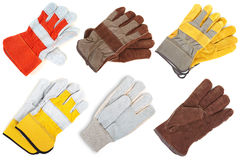 Leather gloves. The assortment Royalty Free Stock Photography