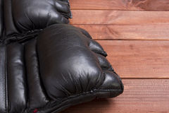 Leather Gloves for fighting without rules Stock Photography