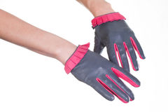 Leather Gloves Royalty Free Stock Images