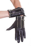 Leather Gloves Stock Photography