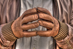 Leather gloves Stock Photo