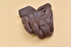 Leather gloves for riding a motorcycle Stock Image