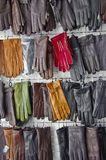 Leather gloves store Stock Image