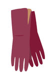 Leather Gloves Vector Illustration in Flat Design Stock Photography