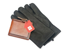 Leather gloves Stock Photos
