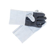 Leather gloves for welding Stock Image