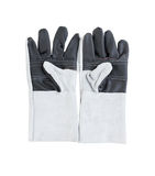 Leather gloves for welding Royalty Free Stock Photo