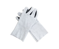 Leather gloves for welding Stock Photos