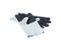 Leather gloves on white Royalty Free Stock Photos
