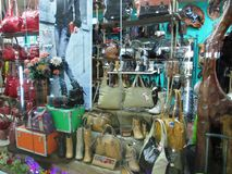 Leather goods shop Royalty Free Stock Photos