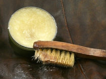 Leather grease royalty free stock images