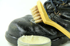 Leather grease Royalty Free Stock Photography
