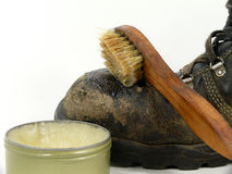 Leather grease stock images