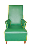 Leather green chair isolated Royalty Free Stock Images