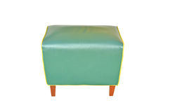 Leather green chair isolated Stock Image