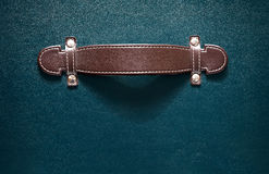 Leather grip suitcase Royalty Free Stock Image