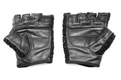 Leather gym gloves Stock Photos