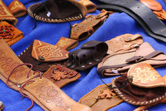 Leather hand-made Stock Photo
