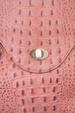 Leather handbag. Detailed shot of  leather handbag Royalty Free Stock Photography