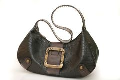 Leather Handbag I. Isolated leather handbag royalty free stock photo