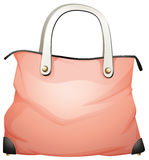 A leather handbag. Illustration of a leather handbag on a white background Royalty Free Stock Photo