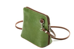 Leather handbag isolated on white background Stock Image