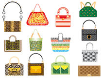 Leather handbags Royalty Free Stock Photo