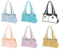 Leather handbags Royalty Free Stock Images