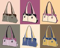 Leather handbags. Illustration of leather handbags available in vector format Royalty Free Stock Image