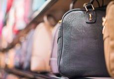 Leather handbags. Royalty Free Stock Photos