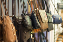Leather handbags. Stock Photos
