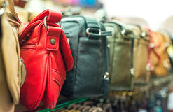 Leather handbags. Royalty Free Stock Photo