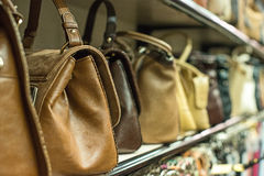 Leather handbags. Royalty Free Stock Image