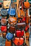 Leather Handbags Stock Image