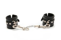 Leather Handcuffs Stock Image